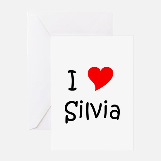 Cute Silvia Greeting Card