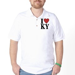 I Love Kentucky Golf Shirt