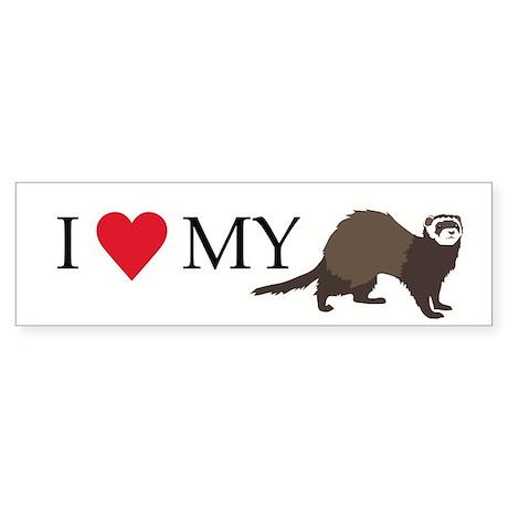 I Love My Ferret Sticker (Bumper)