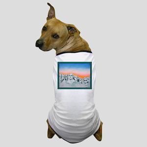 CAT PRESIDENT MT. RUSHMORE Dog T-Shirt