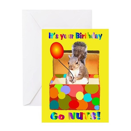 Squirrel Birthday Greeting Card