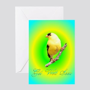 Goldfinch Get Well Greeting Card