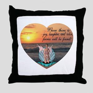 Fairies Found Throw Pillow