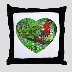 Fairy Laughter Throw Pillow