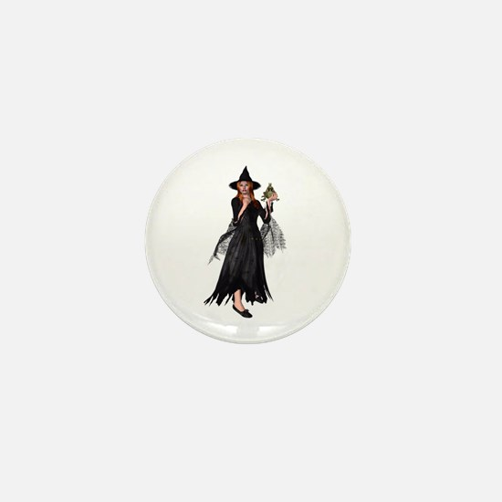 Witch Frog Mini Button