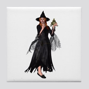 Witch Frog Tile Coaster
