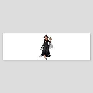 Witch Frog Bumper Sticker