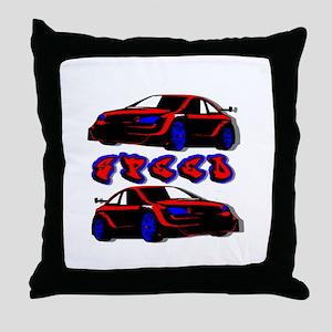 Sportscar Throw Pillow