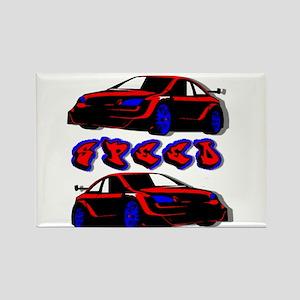 Sportscar Rectangle Magnet