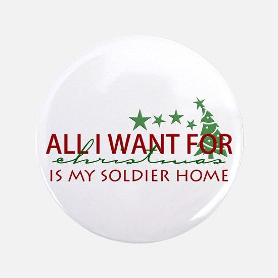 """All I want for Christmas 3.5"""" Button"""
