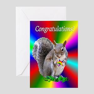 Squirrel Congratulations Greeting Card
