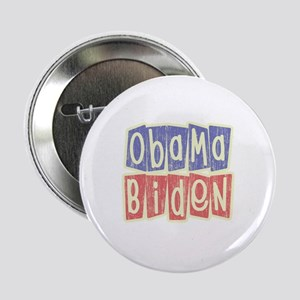 "Retro Obama Biden Logo 2.25"" Button"