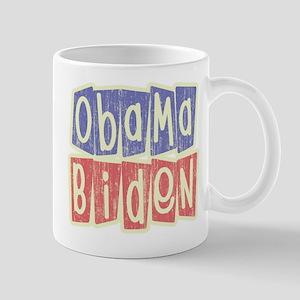 Retro Obama Biden Logo Mug