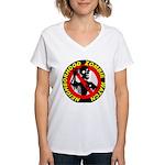 NEIGHBORHOOD ZOMBIE WATCH Women's V-Neck T-Shirt