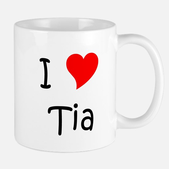 Unique I love tia Mug