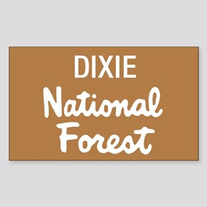 Dixie National Forest (Sign) Rectangle Sticker