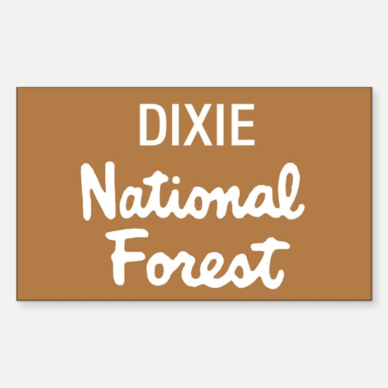 Dixie National Forest (Sign) Rectangle Decal