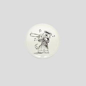 Catoons Trombone Cat Mini Button