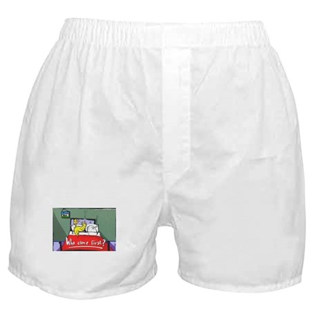 "Humor ""Who Came First?"" Boxer Shorts"