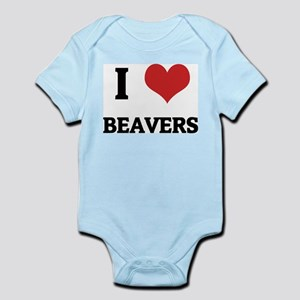 I Love Beavers Infant Creeper