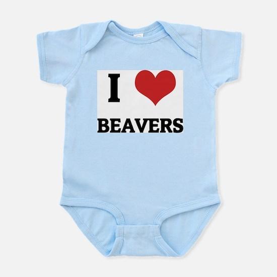 I Love Beavers Infant Creeper