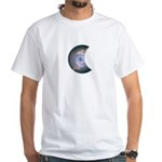 MOON DYEING SUN DESIGN White T-Shirt