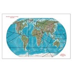 5th World Grid Map Posters Large Poster