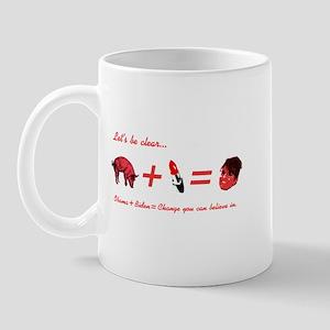 A Pig + Lipstick = Sarah Palin Mug