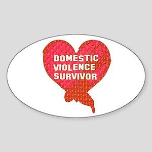 Violence Survivor Oval Sticker