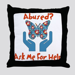 Domestic Violence Help Throw Pillow