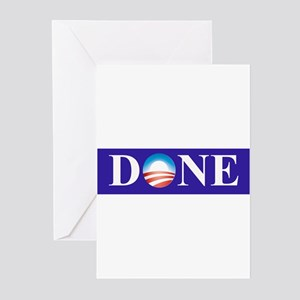 Barack Obama Is Done Greeting Cards (Pk of 10)