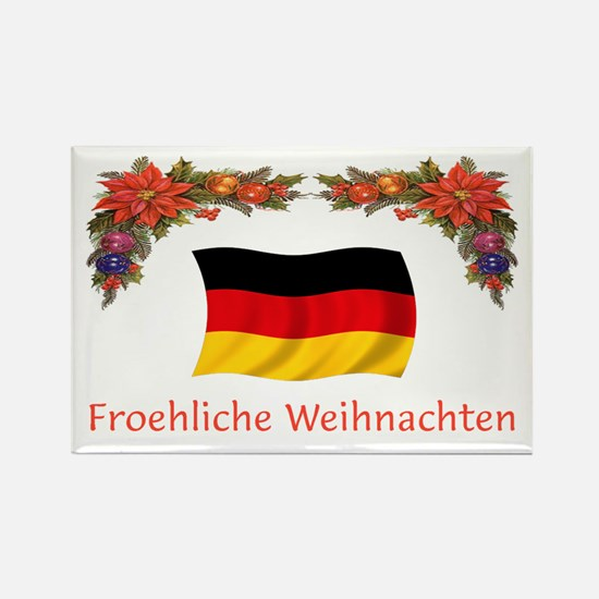Germany Froehliche...2 Rectangle Magnet