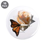 "Jan's Rose & Monarch 3.5"" Button (10 pack"