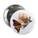 "Jan's Rose & Monarch 2.25"" Button (10 pac"