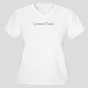 Lineman's Fiance Women's Plus Size V-Neck T-Shirt