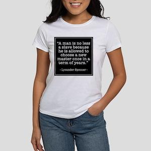 """""""A man is no less a slave..."""" Women's T-Shirt"""