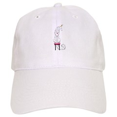 Borzoi Princess White Baseball Baseball Cap