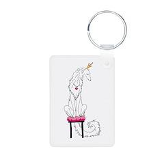 Borzoi Princess White Keychains