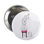 "Borzoi Princess White 2.25"" Button (100 Pack)"