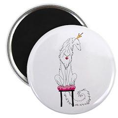 Borzoi Princess White Magnets