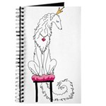 Borzoi Princess White Journal