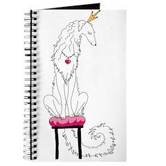Borzoi Princess White Journal