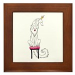 Borzoi Princess White Framed Tile