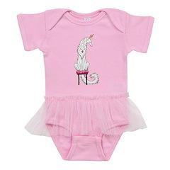 Borzoi Princess White Baby Tutu Bodysuit