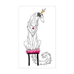 Borzoi Princess Silver Sable Decal