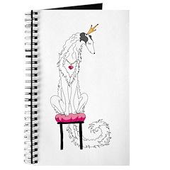 Borzoi Princess Silver Sable Journal