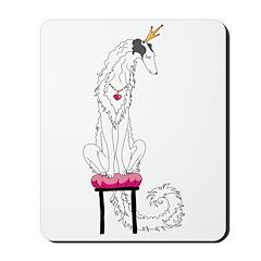 Borzoi Princess Silver Sable Mousepad