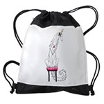 Borzoi Princess Silver Sable Drawstring Bag