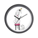 Borzoi Princess Silver Sable Wall Clock