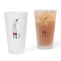 Borzoi Princess Silver Sable Drinking Glass